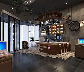 咖啡厅休闲场所模型