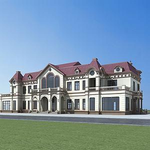 歐式建筑綜合樓模型3d模型