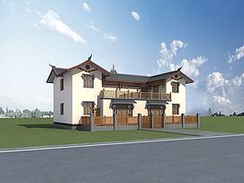 彝族民居建筑模型