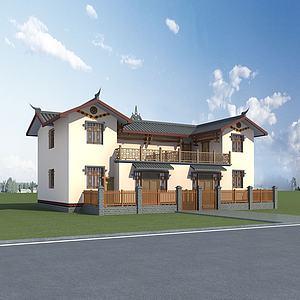 彝族民居建筑模型3d模型