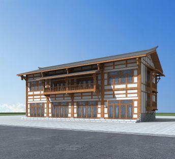 川西风格民居建筑