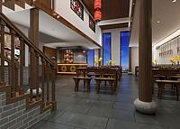 中式餐馆面馆3d模型