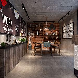 艺术餐厅用餐区·3d模型