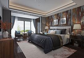 中式卧室主卧模型
