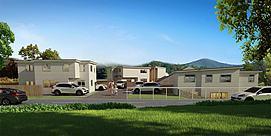 别墅区户外建筑模型