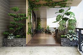 绿植观赏区茶室竹?#20132;?#34276;模型