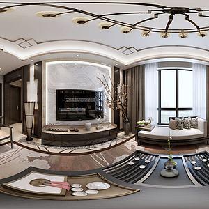 新中式客厅茶桌模型3d模型