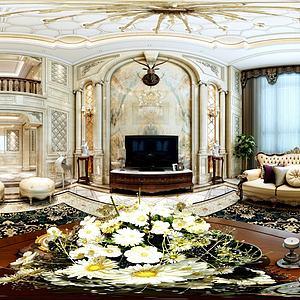 欧式沙发座椅客厅模型3d模型