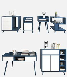 柜子书桌边柜模型