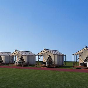 帳篷式酒店模型3d模型