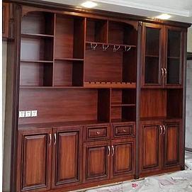 中式实木红木酒柜模型