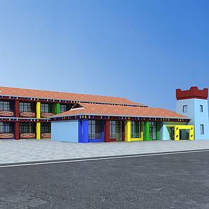 藏族幼兒園模型3d模型