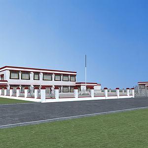 藏族村委會模型3d模型