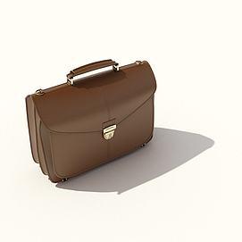 公文包皮包办公皮包模型