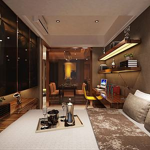 臥室茶室書桌模型3d模型