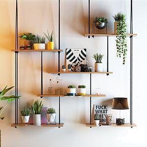 吊兰绿植盆栽装饰架模型
