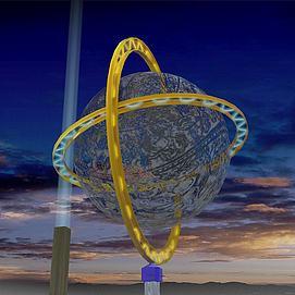 鏤空球模型