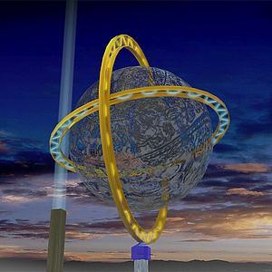 镂空球模型