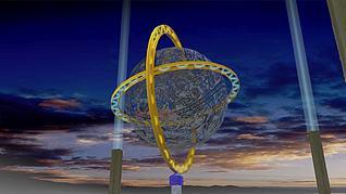 3d镂空球模型