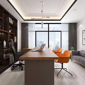 現代簡約辦公室3d模型
