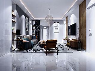 3d客厅北欧风格模型