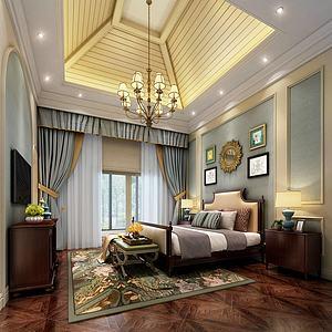 创意吊顶个性卧室模型3d模型