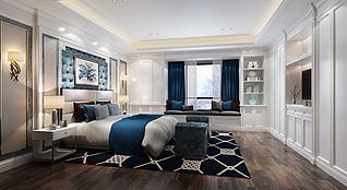 3d现代卧室榻榻米模型