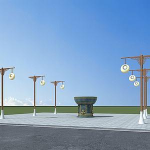彝族路灯模型