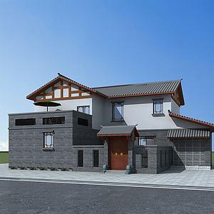 民居院落建筑模型3d模型
