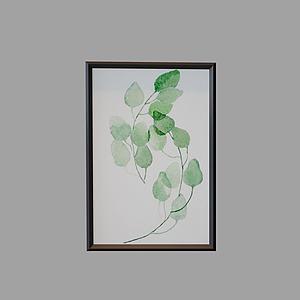 植物画?#19968;?d模型