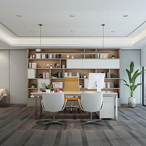 3d现代总经理办公室模型