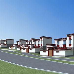 藏式村子模型3d模型