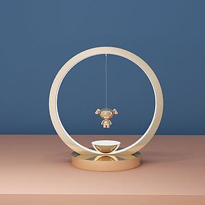 创意小狗台灯模型