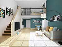 现代都市风格客厅3d模型