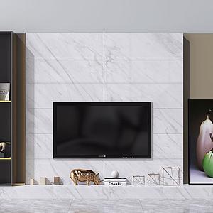 3d电视背景墙<font class='myIsRed'>电视柜</font>模型