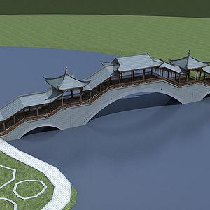 3d古建风雨桥模型