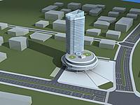 高级酒店大楼3d模型