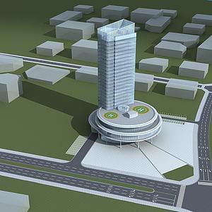 高级酒店大楼模型3d模型