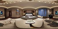 现代中式卧室3d模型