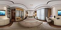 中式卧室家具3d模型