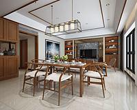 简约桌椅餐厅3d模型