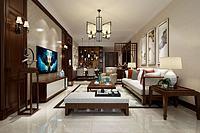 中式家具摆设客厅3d模型