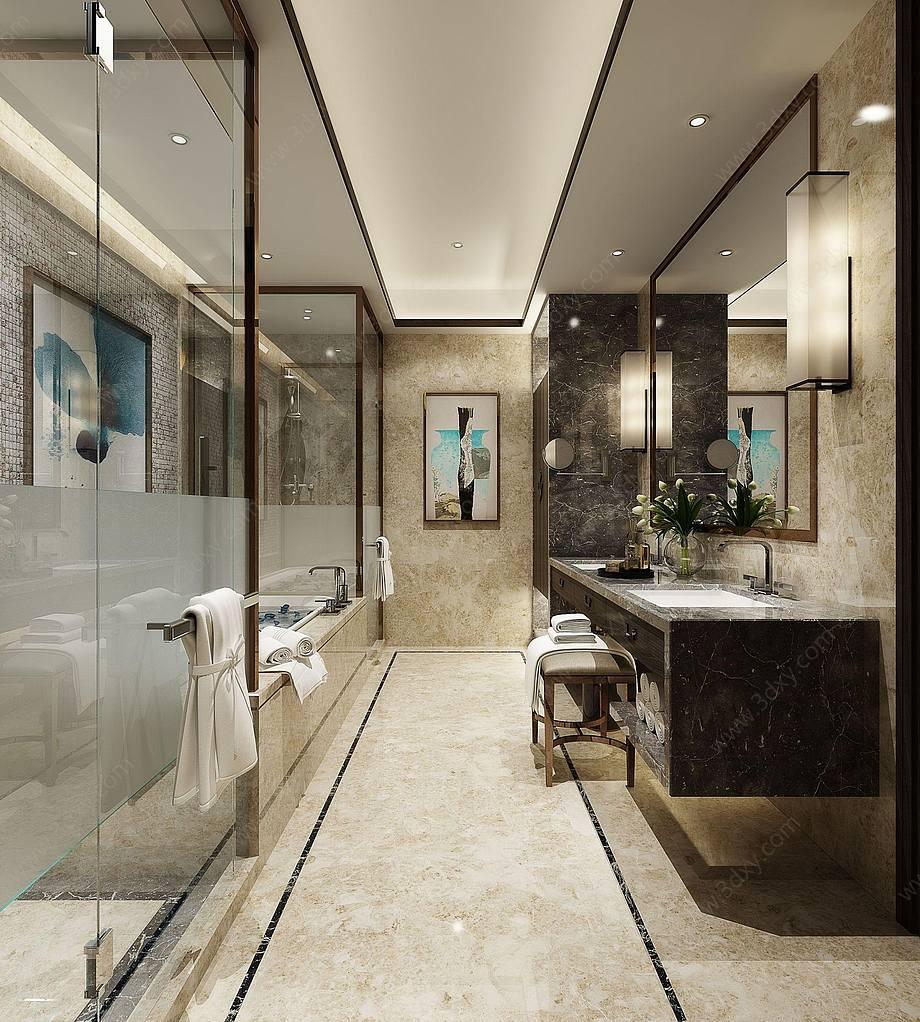现代中式卫生间