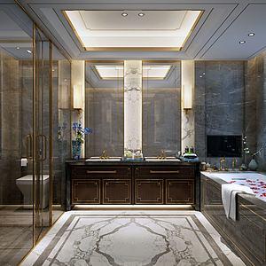 酒店衛生間模型3d模型