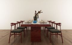 现代中式餐桌椅组合模型3d模型