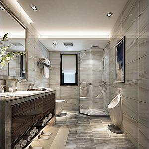 酒店洗手間模型3d模型