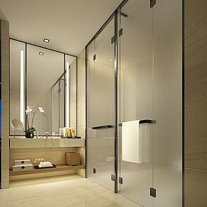 酒店浴室洗漱臺模型3d模型