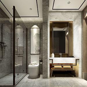 酒店客房衛生間模型3d模型