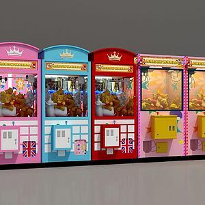 3d抓娃娃機展廳模型