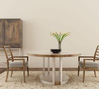 现代实木餐桌椅组合